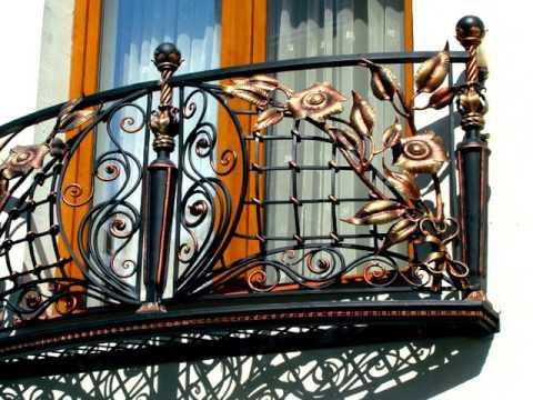 Изготовление кованых французских балконов для окон в Днепропетровске Днепре металл фото дизайн