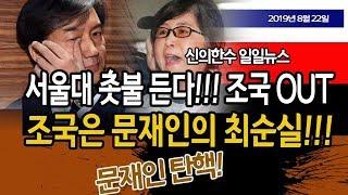 (일일뉴스) 조국사태 일파만파!!! 서울대 촛불 든다!!! 문재인 OUT!!! / 신의한수 19.08.22