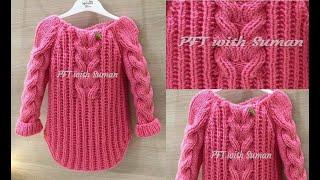 New Knitting Design/Cardigan Pattern In Hindi/Requested Video/Cardigan Tutorials:Design#77