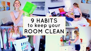 How To KEEP Your Room CLEAN! 9 Habits For A Clean Room!