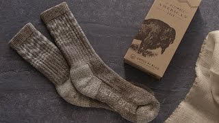 **Keep your feet warmer than bison in a snowstorm.**