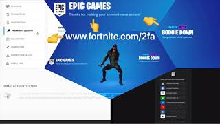 Fortnite / How to enable 2fa and unlock Boogie Down Emote / Boogie Down tanssi ilmaiseksi