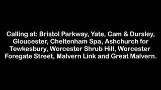 Filton Abbey Wood Announcements 06/12/2018