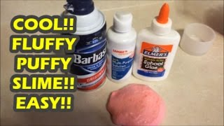 How to make fluffy slime with shaving cream no borax most popular how to make fluffy slime quick easy 3 ingredients shaving cream glue contact solution ccuart Choice Image