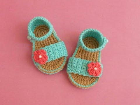 Easy Baby Gladiator Crochet Sandals free pattern