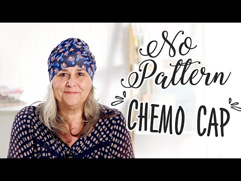 No Pattern Chemo Cap made from Soft Jersey