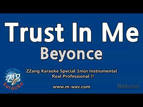 Beyonce-Trust In Me (영화 'Cadillac Records') (1 Minute Instrumental) [ZZang KARAOKE]