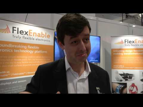 FlexEnable Discusses Flexible Printed Backplanes at the IDTechEx Show!