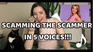 SCAMMING the SCAMMER in 5 voices! 😂 He thinks he's on MTV w/ Britney Spears! #scambaiting #irlrosie