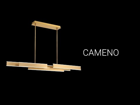 Video for Cameno Gold LED Linear Pendant