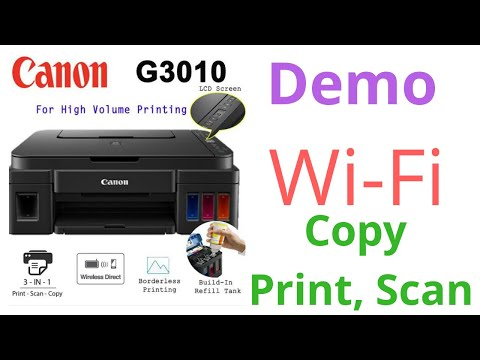 Ink Tank Printer Canon G3010