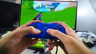I WIN Fortnite with the SMALLEST CONTROLLER!