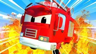 Policejní auta pro děti - V nemocnici hoří! Město Aut!