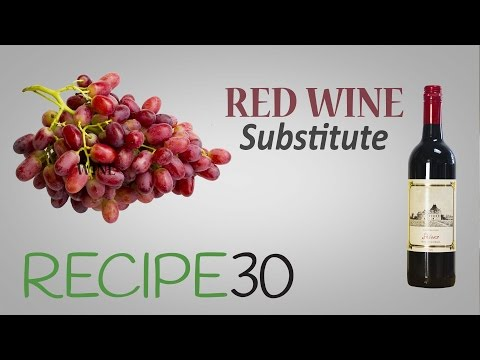 How to substitute red wine for cooking