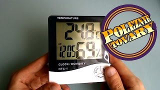 HTC-1 термометр, гигрометр, часы от компании Alexel - видео