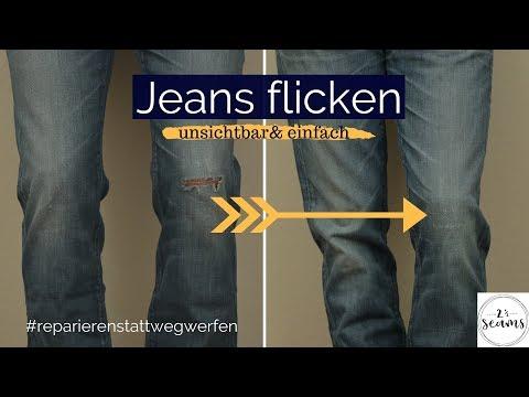 Jeans flicken #reparierenstattwegwerfen | Two and a half seams