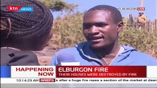 Families left homeless after fire destroys their homes in Elburgon
