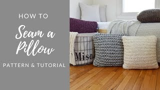 How to seam a knitted pillow