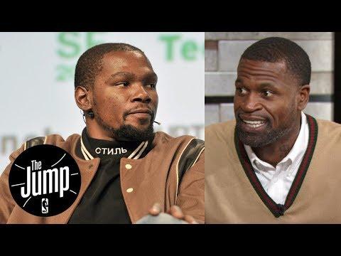 Stephen Jackson has no respect for Kevin Durant, calls him an 'egg avatar' | The Jump | ESPN