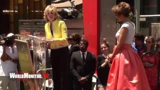 Jane Fonda Hilarious Speech at Jennifer Lopez Hollywood Walk of Fame Ceremony