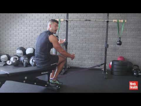 Seated Band Leg Curl