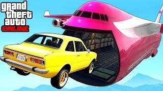 GTA 5: Online - Extreme Cargo Plane Stunts, Funny Moments & Fails