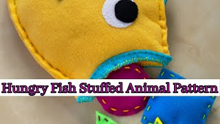 Sew A Stuffed Animal, Hungry Fish Stuffed Animal Pattern