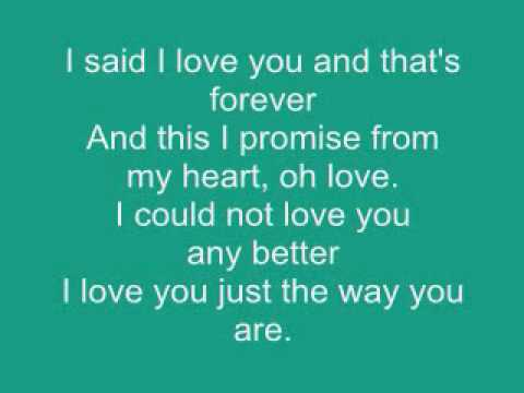 """Barry White Lyrics : """"Just the way you are"""""""