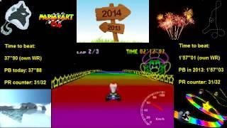 MK64 - former world record on Rainbow Road - 1'56''97 (NTSC: 1'37''28)