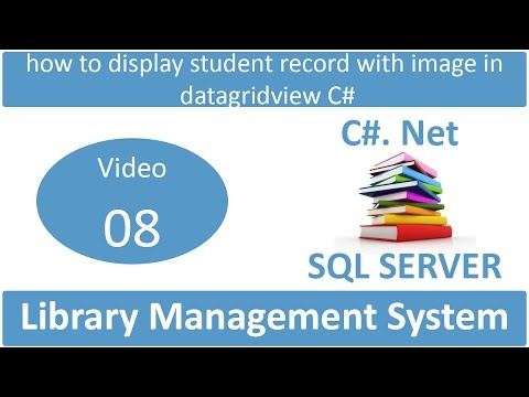 how to display student record with image in datagridview csharp