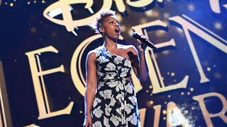 """Anika Noni Rose performs """"Go the Distance"""" from Disney's """"Hercules"""" at D23 Expo 2017"""