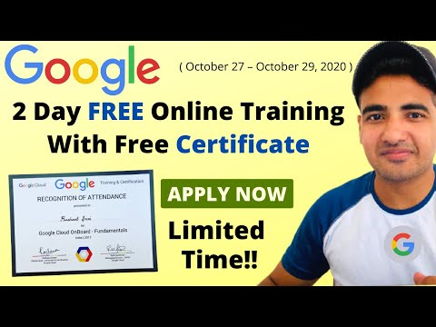 Google Free Online Training Course | Google Free Certification ...