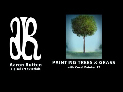 How To Paint Happy Trees with Corel Painter 🌳🌳