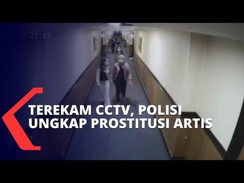 terekam cctv polisi berhasil ungkap prostitusi online yang libatkan artis dan selebgram