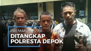Dua Preman Viral Palak Sopir Angkot Ditangkap Polresta Depok