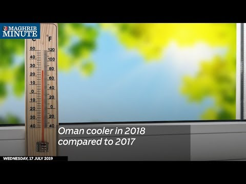 Oman cooler in 2018 compared to 2017