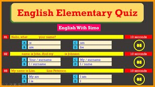 Can You Get A Perfect Score In This Elementary Grammar Quiz? | English With Simo🤔💡😇