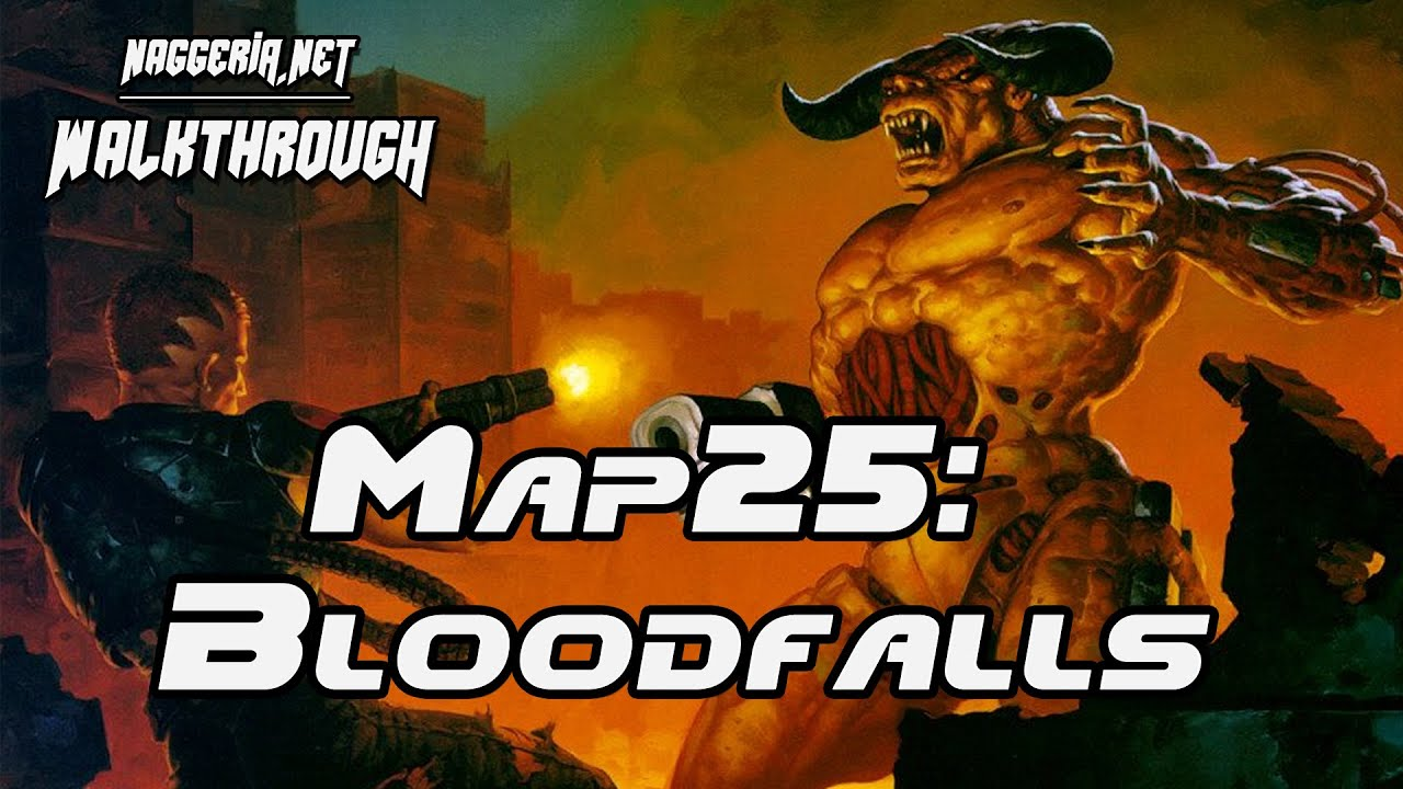 "[Doom 2 Komplettlösung] Map25: ""Bloodfalls"" Walkthrough (Ultra-Violence)"