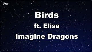 Birds Ft. Elisa   Imagine Dragons Karaoke 【No Guide Melody】 Instrumental