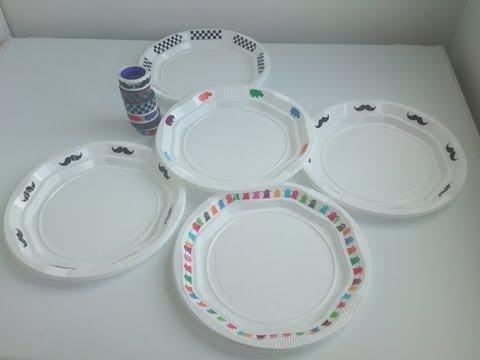Cómo personalizar platos de plástico con washi tap | facilisimo.com