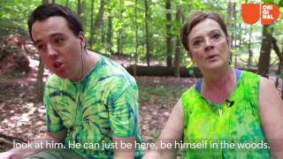 Mom And Son With Autism Create Fairy Houses For Kids