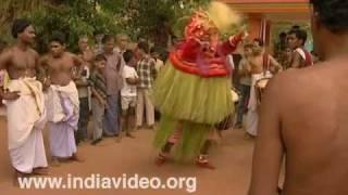 Vishnumoorthy - A Theyyam form
