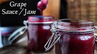 CHUNKY GRAPE SAUCE/JAM | 100% FRUIT | No Pectin/Preservative |How To Make Grape Jam | COOK WITH Me