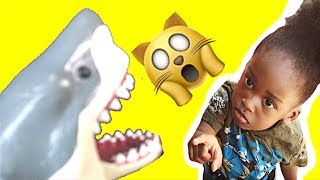 Toy Shark Eats Snack And Play At The Playground | KidsTube TV