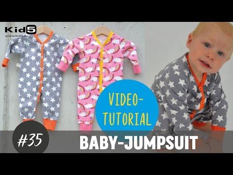 """""""Baby-Jumpsuit/ Einteiler"""" ganz einfach selber Nähen DIY-Näh-Tutorial"""