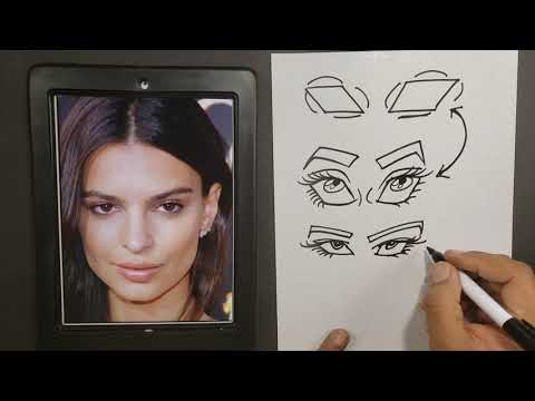 secret to draw caricature eyes by rowser