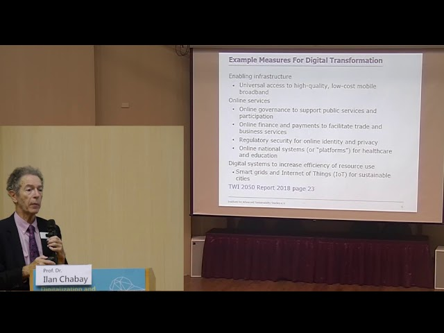 Prof. Dr. Ilan Chabay | 2018/10/03 Digitalization and Sustainability Transitions in 2050