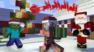 Monster School : SNOW BALL FIGHT AND SANTA - Minecraft Animation