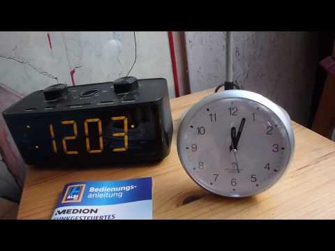 Test gut: ⏰ Aldi Radiowecker Medion Wecker mit 📡 Funkuhr Nr E66345