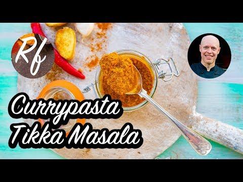 Tikka Masala currypasta är en kryddblandning med färsk ingefära, vitlök, chili, gurkmeja, koriander, spiskummin och kardemumma med mera.>